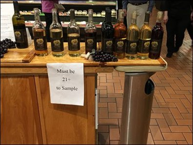 Alcohol Sampling Age Restrictions Apply