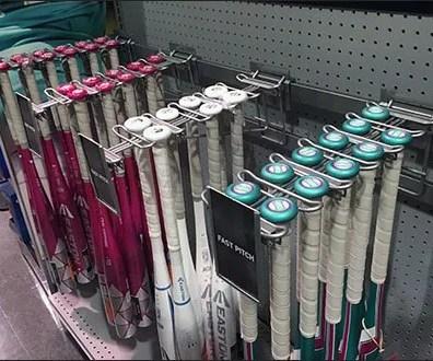 Bar-Mount Baseball Bat Faceout Display