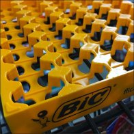 Bic Lighter Step-And-Repeat Tray Display