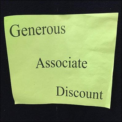 Fashion Store Entry Hiring Board Discounts