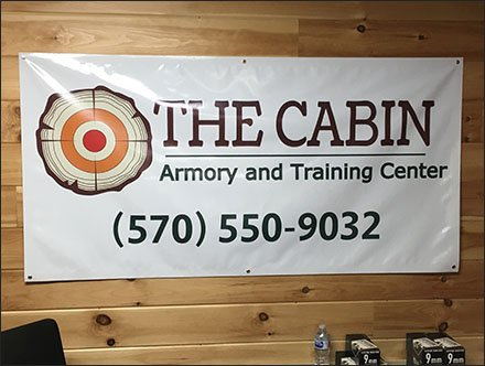 Cabin Armory Retail Fixtures - Cabin Armory and Training Center Banner