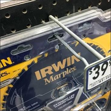 Circular Saw Blade Triple Hole Hung by Irwin