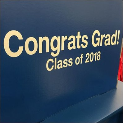 Congrats to Grads Corrugated Island Display