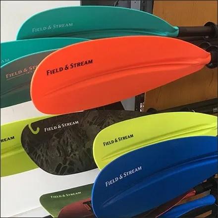 Kayak Paddle Horizontal Rack Merchandising
