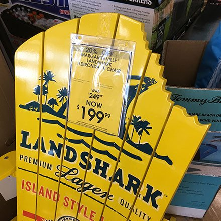 Lawn Chair Merchandising - Land Shark Takes A Bite Out of Chair