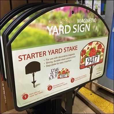 Magnetic Yard Sign Selling System