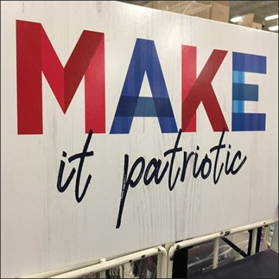 Make It Patriotic Freestanding Sidekick Displays