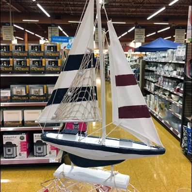 Nautical Tableware Display Bow View 1