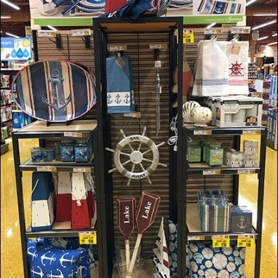 Nautical Tableware Slatwire Endcap Display