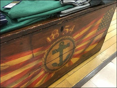 Nautical Antique Wood Chest Trundle