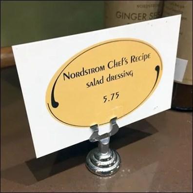 Nordstrom Cafe Chef's Recipe Salad Dressing
