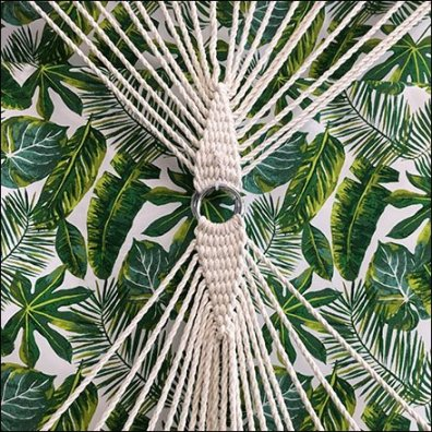 Palm Pattern Summer Hammock Presentation