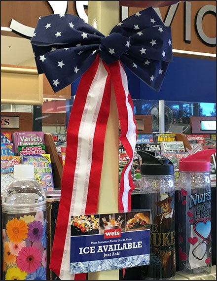 Patriotic Party Ice Bow and Bunting