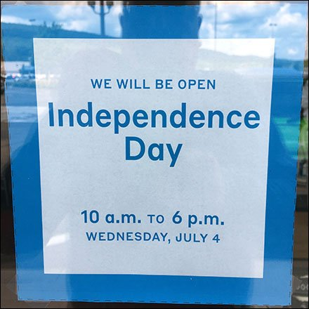 Pier 1 Open Independence Day Advance Notice