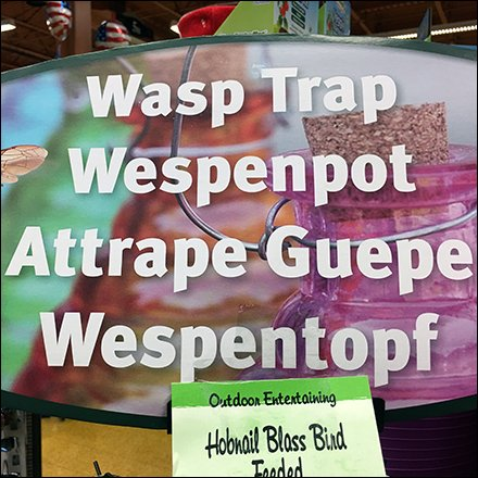Multilingual Retail Fixtures - Planet-Friendly Wasp Trap Insect Control