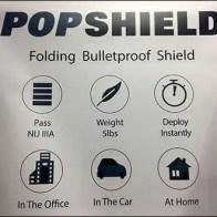 PopShield Bulletproof Shield Pop-Up Banner