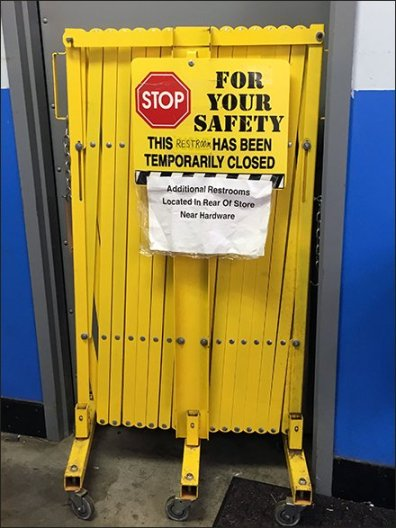 Restroom Closed For Your Safety … Seriously