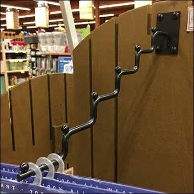 Stair-Stepped Display Hook Ballstopped