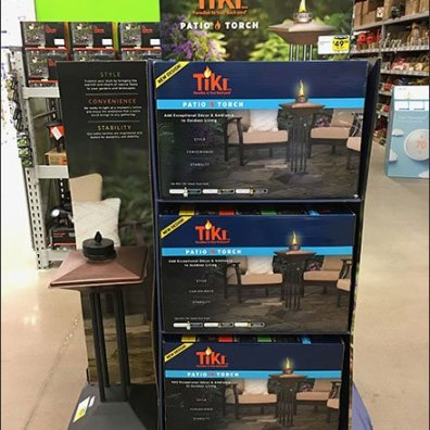 Upscale Tiki Patio Torch Pallet Merchandising