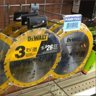 Triple Pack Circular Saw Blade Grid Hung by DeWalt Feature