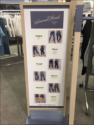 Universal Thread Style Definition Freestanding Sign