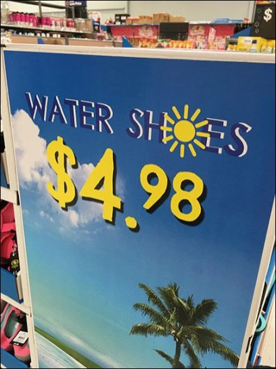 Beach-Theme Water Shoe Island Display