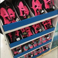Beach-Themed Water Shoes Island Display