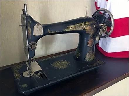 Vintage Sewing Machine Visual Merchandising