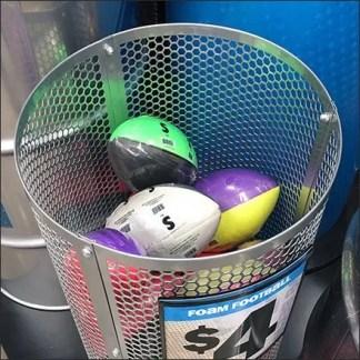 Perforated Bulk Bin Barrel Ball Display