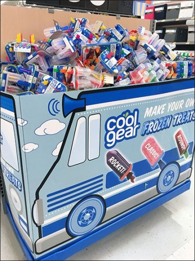 Cool Gear Ice Pop Endcap Ice Cream Truck