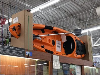 Do-It-Yourself Kayak Corrugated Display
