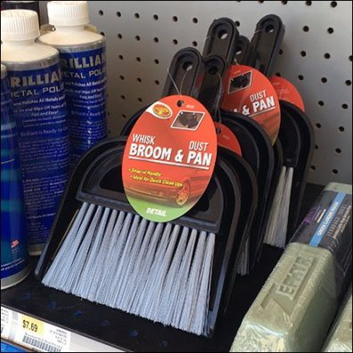 Whisk Broom and Dust Pan Merchandising
