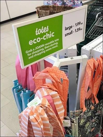 Eco-Chic Tote Tower Merchandising