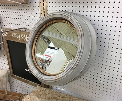 Asymmetric Flip Front Hook Mirror Holder