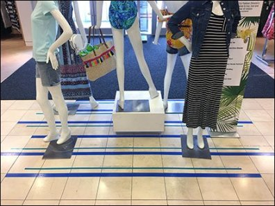 Floor Graphic For Stage Blocking Visual Merchandising