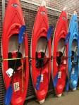Sit-Inside Kayak Slatwire Lineup Display