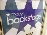 Macys Backstage Stacked Signage