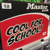 Cool For School Master Lock Display