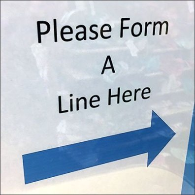 Please Do Form A Line Right Here