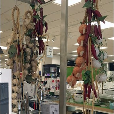 Overhead Cooking Ingredients Hang Rods
