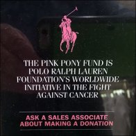 Polo Ralph Lauren Pink Pony Fund Plaque