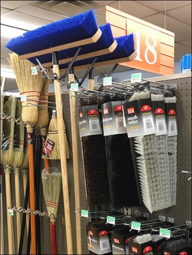 Undulating Push Broom Hooks And Broom Head Hooks