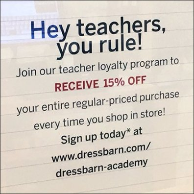 Teachers Rule Loyalty Plan Table-Top Sign