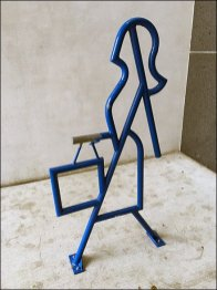 Upscale Bicycle Rack is Shopper Work-of-Art