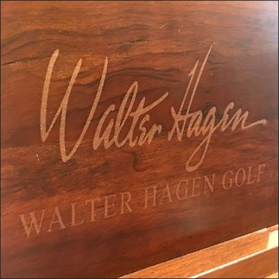 Walter Hagen Golf Signature Wood Plaque