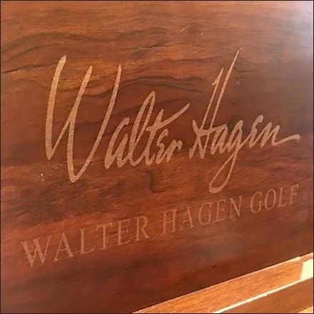 Walter Hagen Golf Signature Wood Plaque
