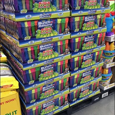 Water Balloon Mass Merchandising by Pallet