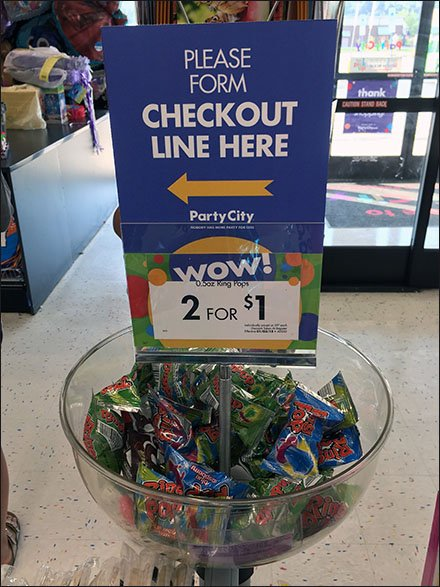 Please Form Checkout Line Left Directional