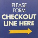 Please Form Checkout Line Right Directional
