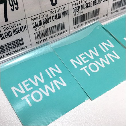 New In Town Bib Tags for Aromatherapy